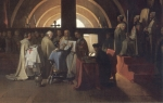 Jacques DeMolay Trial Painting
